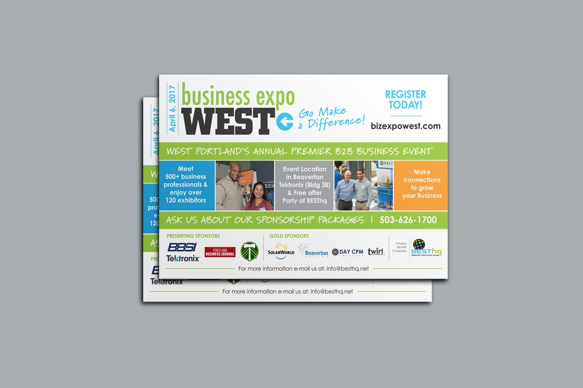 Business Expo West 2017 Postcard